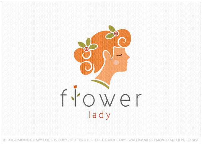 Flower Lady Logo For Sale