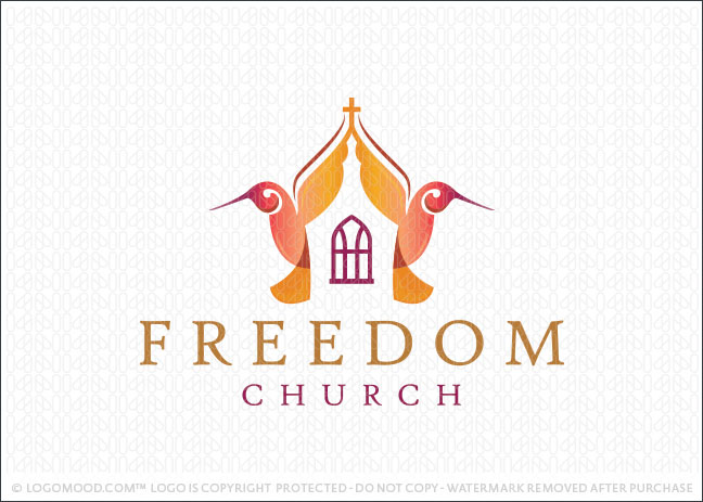 Freedom Humming Bird Church Logo For Sale