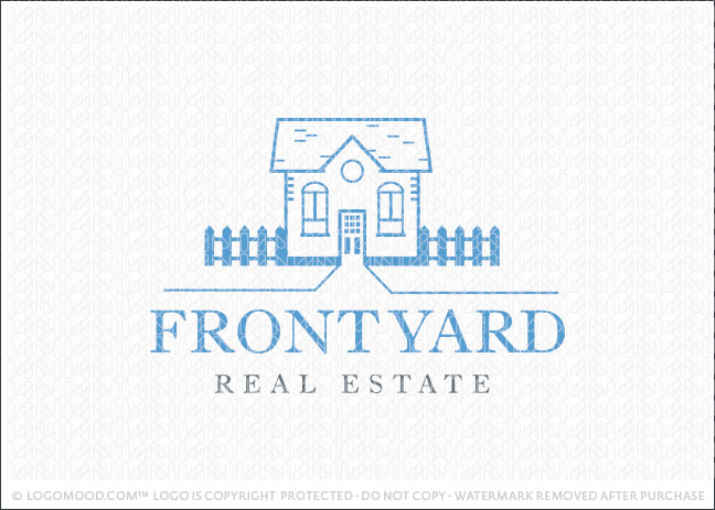 Front Yard Real Estate Logo For Sale
