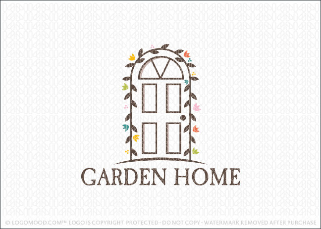 Garden Home Door Logo For Sale