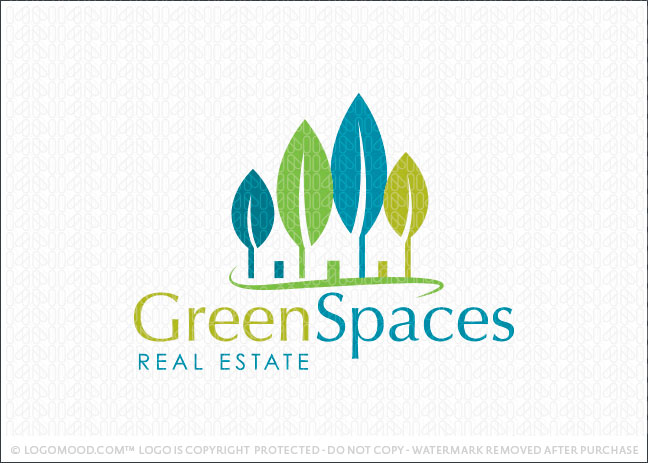 Green Spaces Real Estate Logo For Sale