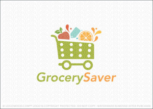 Grocery Saver shopping cart Logo For Sale