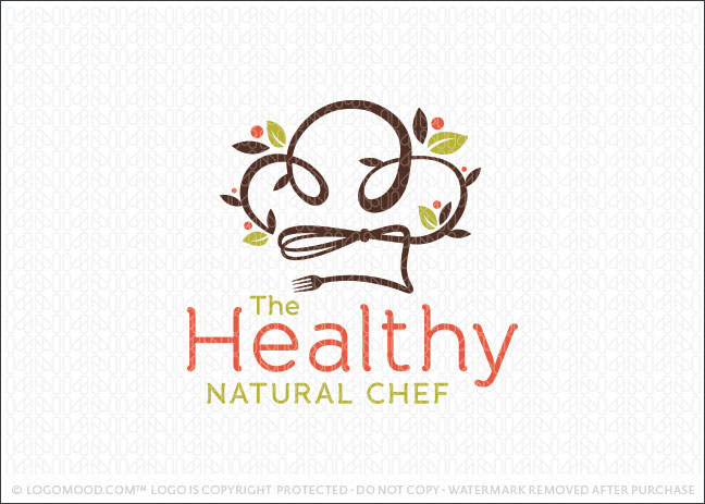 Healthy Natural Chef Logo For Sale