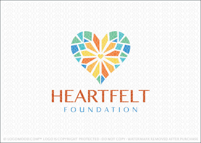 Heartfelt Foundation Logo For Sale