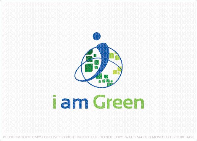 I Am Green World Logo For Sale