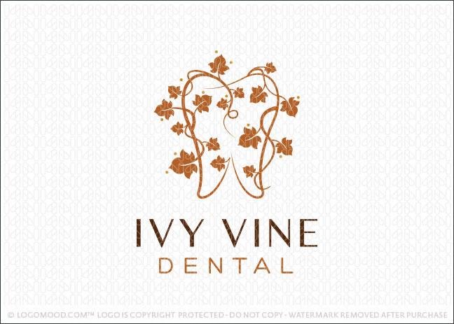 Ivy Leaf Dental Logo For Sale