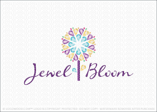 Jewel Bloom Logo For Sale