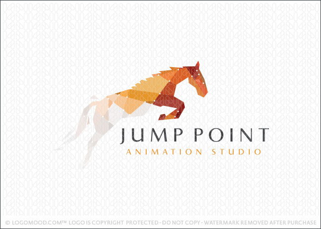Jump Point Horse Logo For Sale