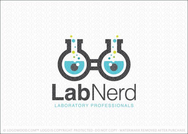 Lab Nerd Logo For Sale
