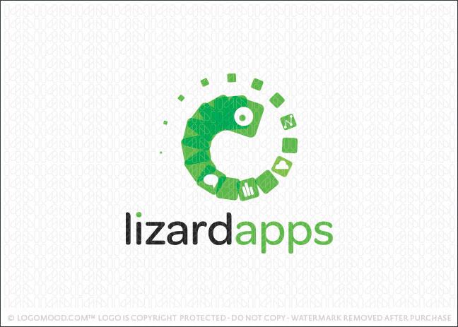 Lizard Apps Logo For Sale