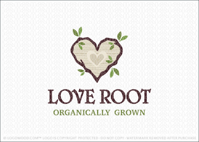 Love Root Organically Grown Logo For Sale