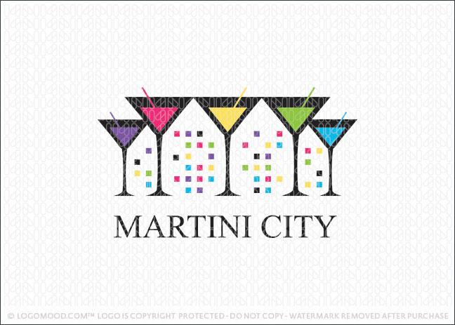 Martini City Logo For Sale