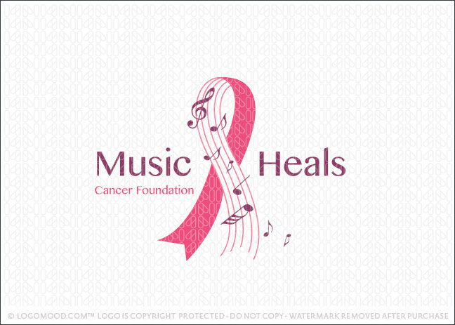 Music Heals Cancer Foundation Logo For Sale