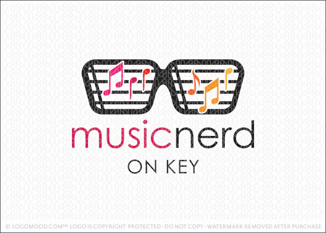 Music Nerd Logo For Sale