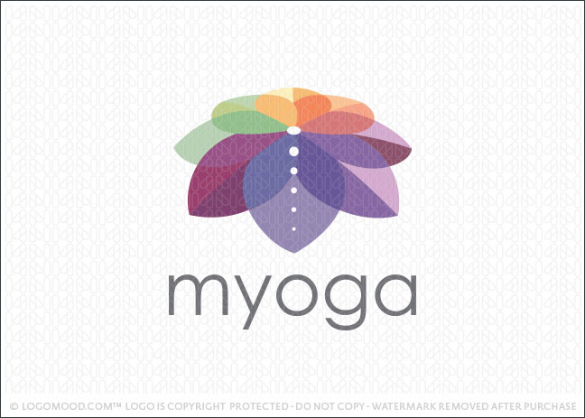 My Yoga Lotus Flower Logo For Sale