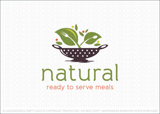 Natural Meals Logo For Sale