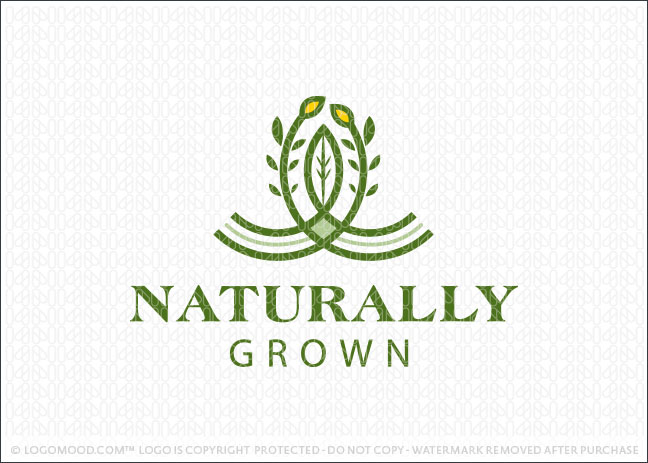 Naturally Grown Logo For Sale