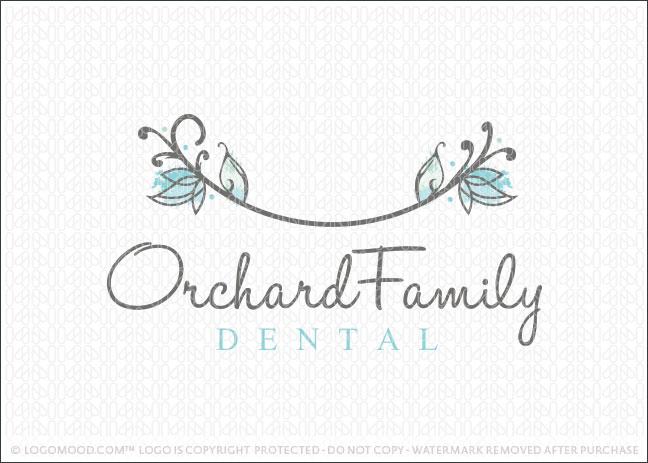 Orchard Dental Smile Logo For Sale