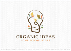 Organic Lightbulb Ideas Logo For Sale