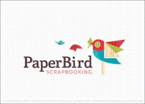 Paper Bird Logo For Sale