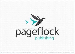 Paper Flock Birds Logo For Sale