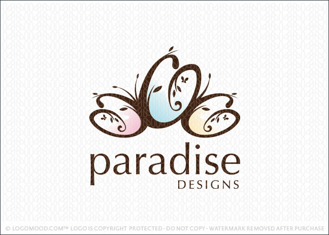Paradise Design Logo For Sale