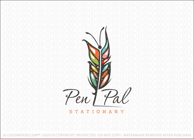 PenPal Feather Butterfly Logo For Sale