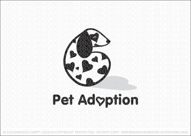 Pet Adoption Logo For Sale