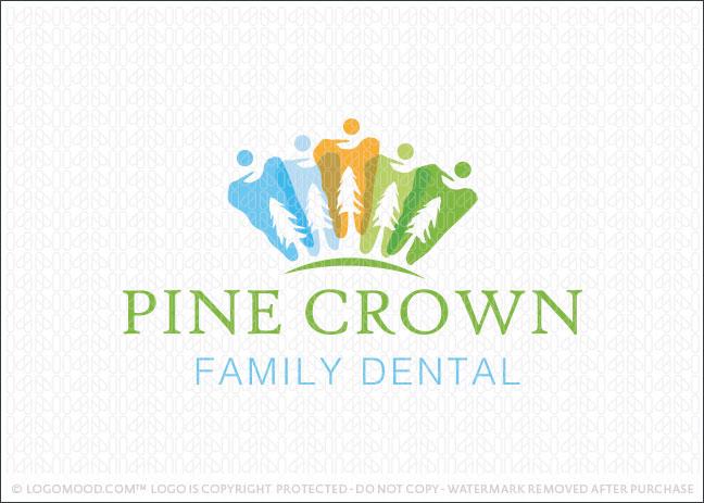 Pine Crown Family Dental Logo For Sale