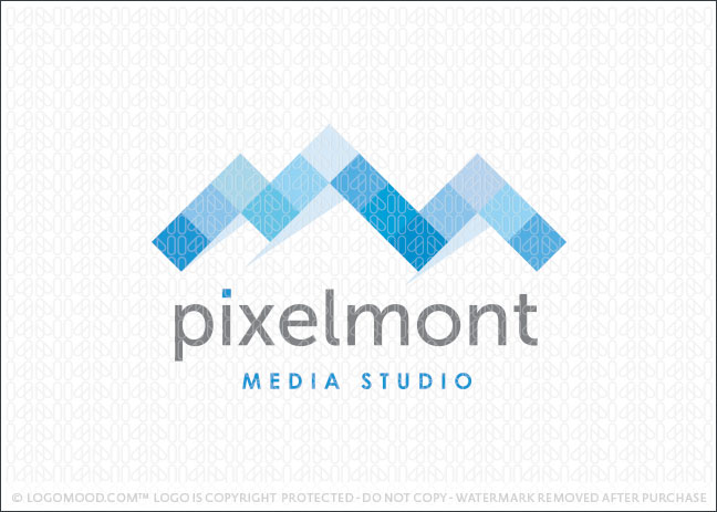 Pixel Mountain Logo For Sale