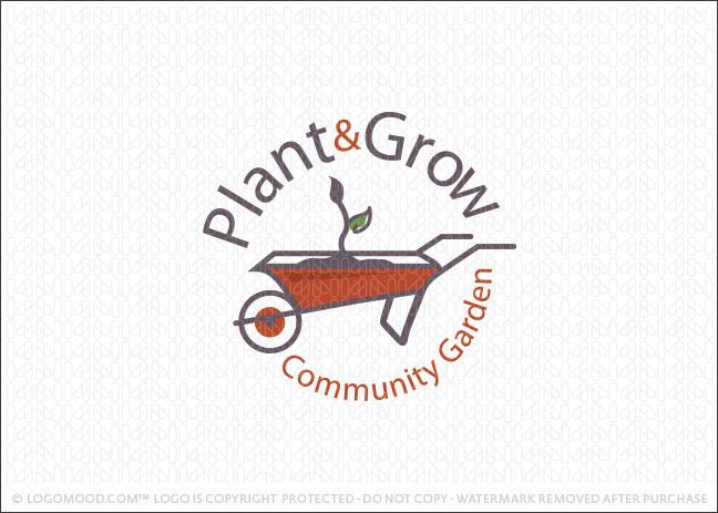 Plant Grow Community Garden Logo For Sale