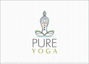 Pure Yoga Logo For Sale