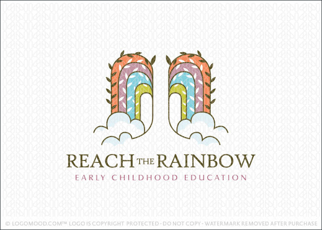 Reach The Rainbow Willow Tree Logo For Sale