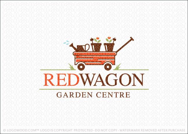 Red Wagon Garden Centre Logo For Sale