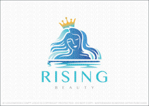Rising Woman Beauty Logo For Sale