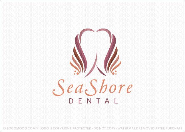 Sea Shore Dental Logo For Sale