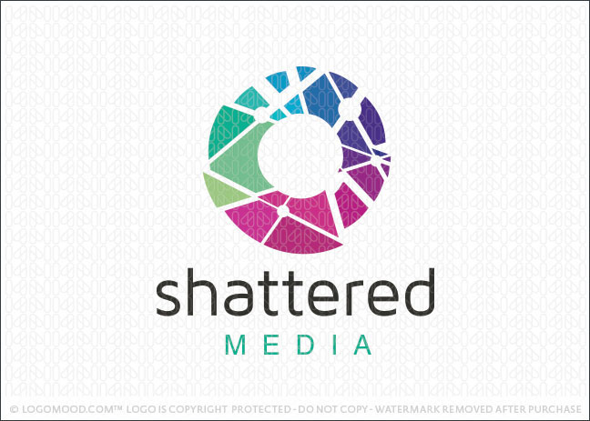 Shattered Media Logo For Sale