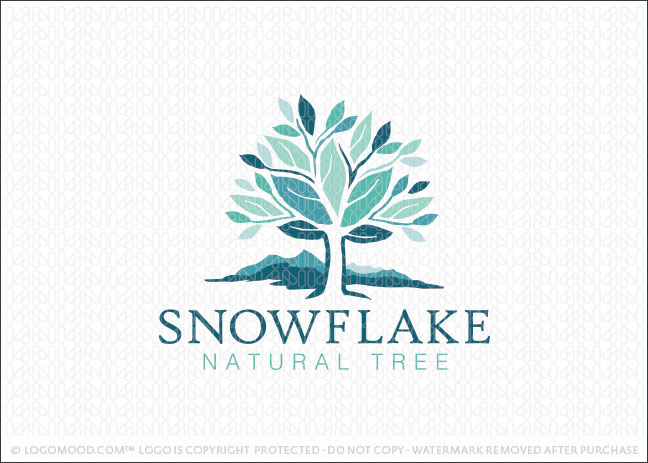 Snowflake Natural Tree Logo For Sale
