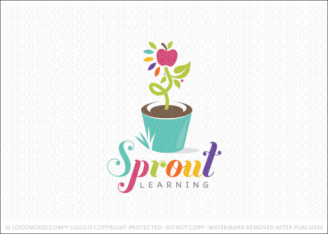 Sprout Kids Learning Logo For Sale