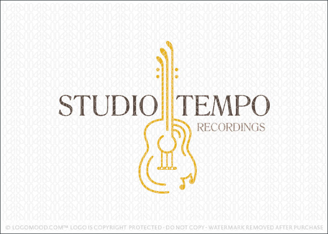 Studio Tempo Guitar Logo For Sale