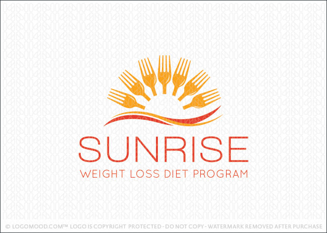 Sunrise Healthy Eating Logo For Sale