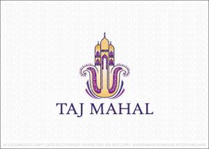 Taj Mahal Hamsa Logo For Sale