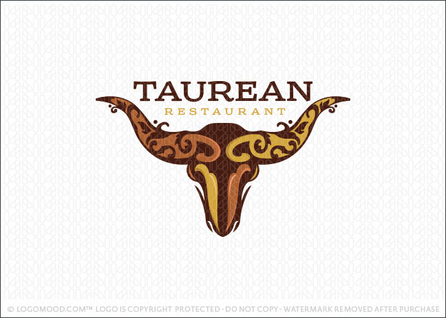 Taurean Bull Logo For Sale