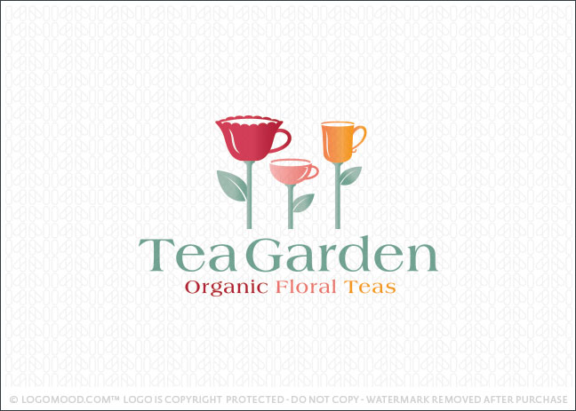 Tea Garden Logo For Sale
