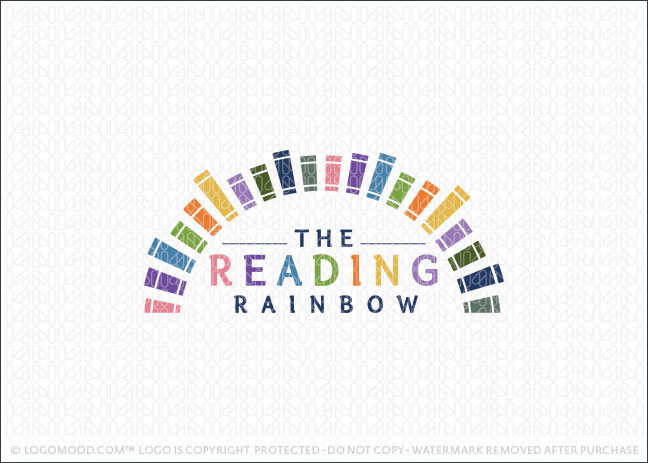 The Reading Rainbow Books Logo For Sale