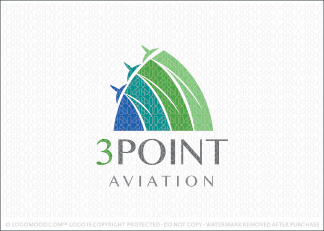 Three Point Aviation Logo For Sale
