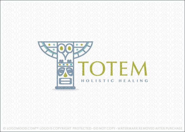 Totem Pole Healing Logo For Sale