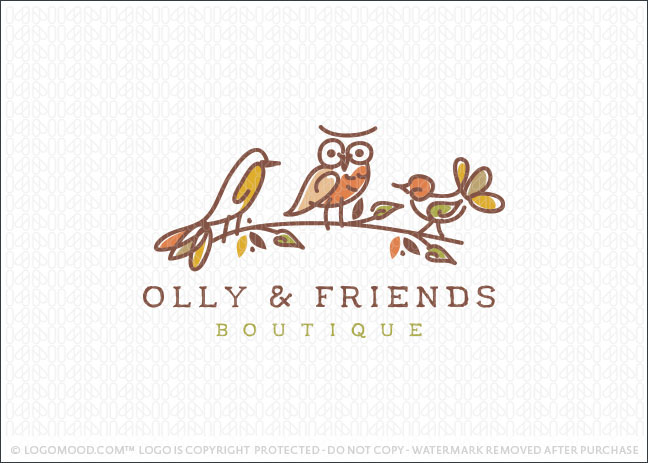 Tree Owl Friends Logo For Sale