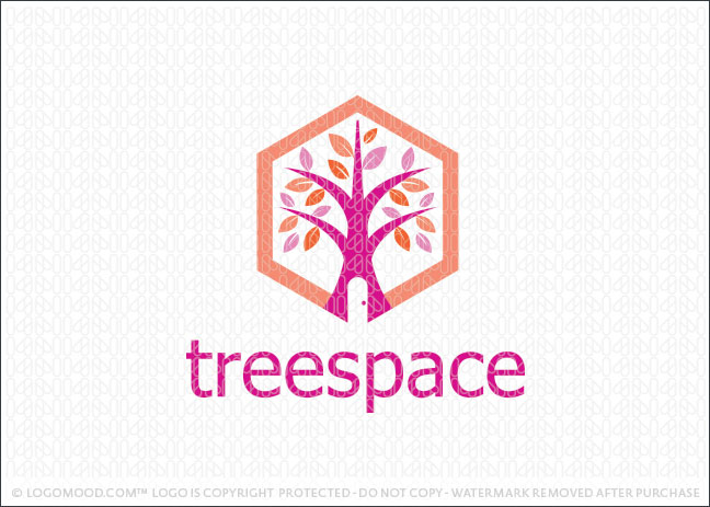 Tree Space House Logo For Sale