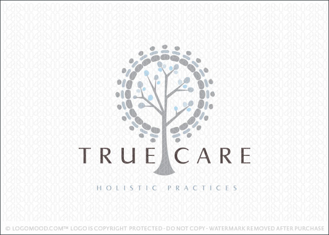 True Care Holistic Tree Logo For Sale